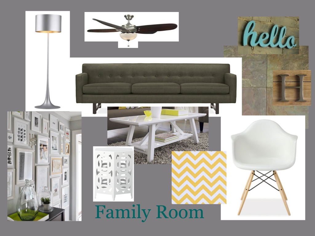 Family Room Mood Board
