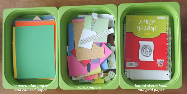 kids craft storage
