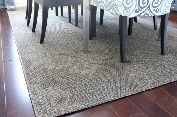 Outdoor Rug in the Dining Room
