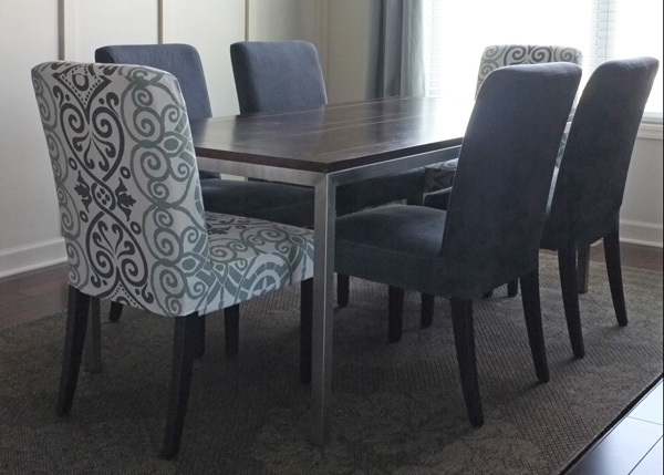 Dyed Dining Chair Slipcover
