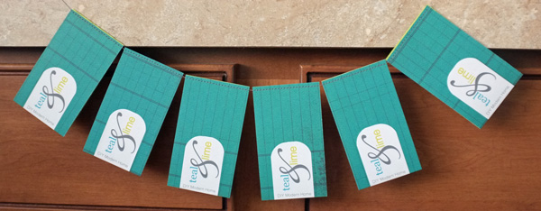 DIY Business Cards Stitched in a Chain