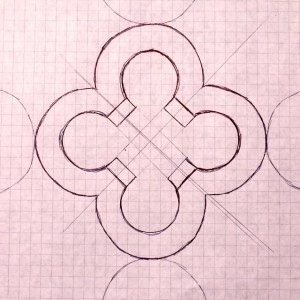 Hand Drawn Quatrefoil Design