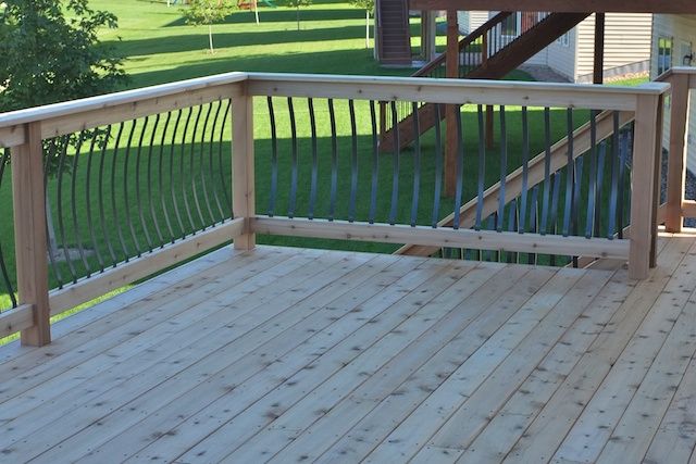 Flat Top Cap for Cedar Deck Rail