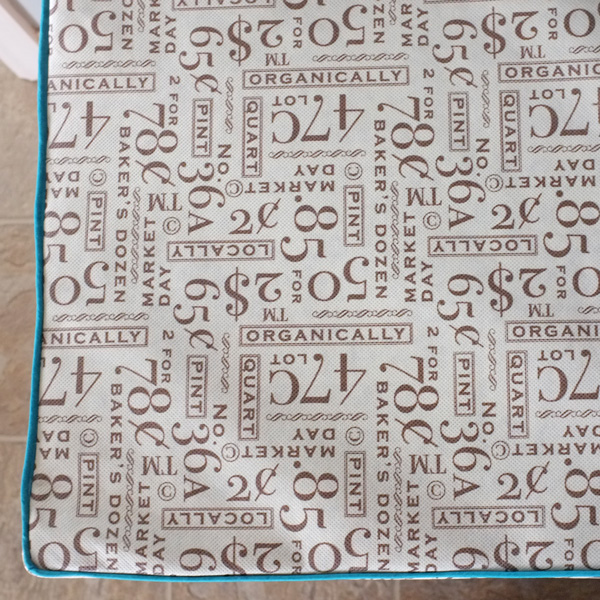 Shopping Bag Fabric for Bench Cushion