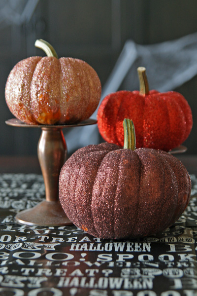 Glittered Pumpkins