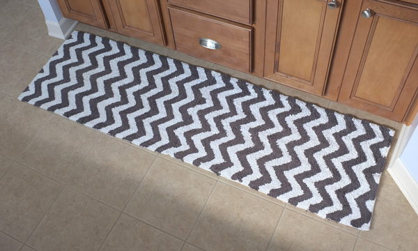 Chevron Bath Mat Runner