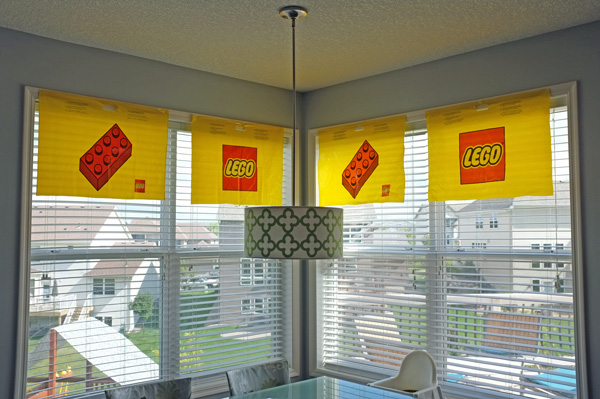 lego shopping bag party decor