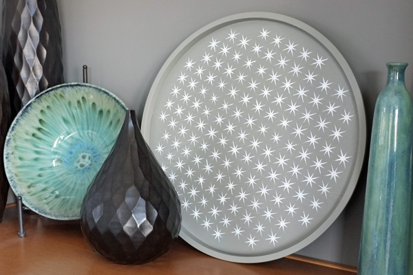 Stenciled Tray as Decor