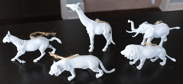 Faux Ceramic Animal Ornaments
