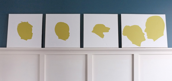 Family Silhouette Art