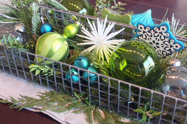 Holiday Ornament Centerpiece