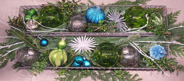 Holiday centerpiece greenery