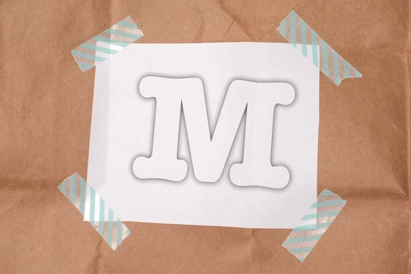 Monogram Brown Paper Gift Wrap
