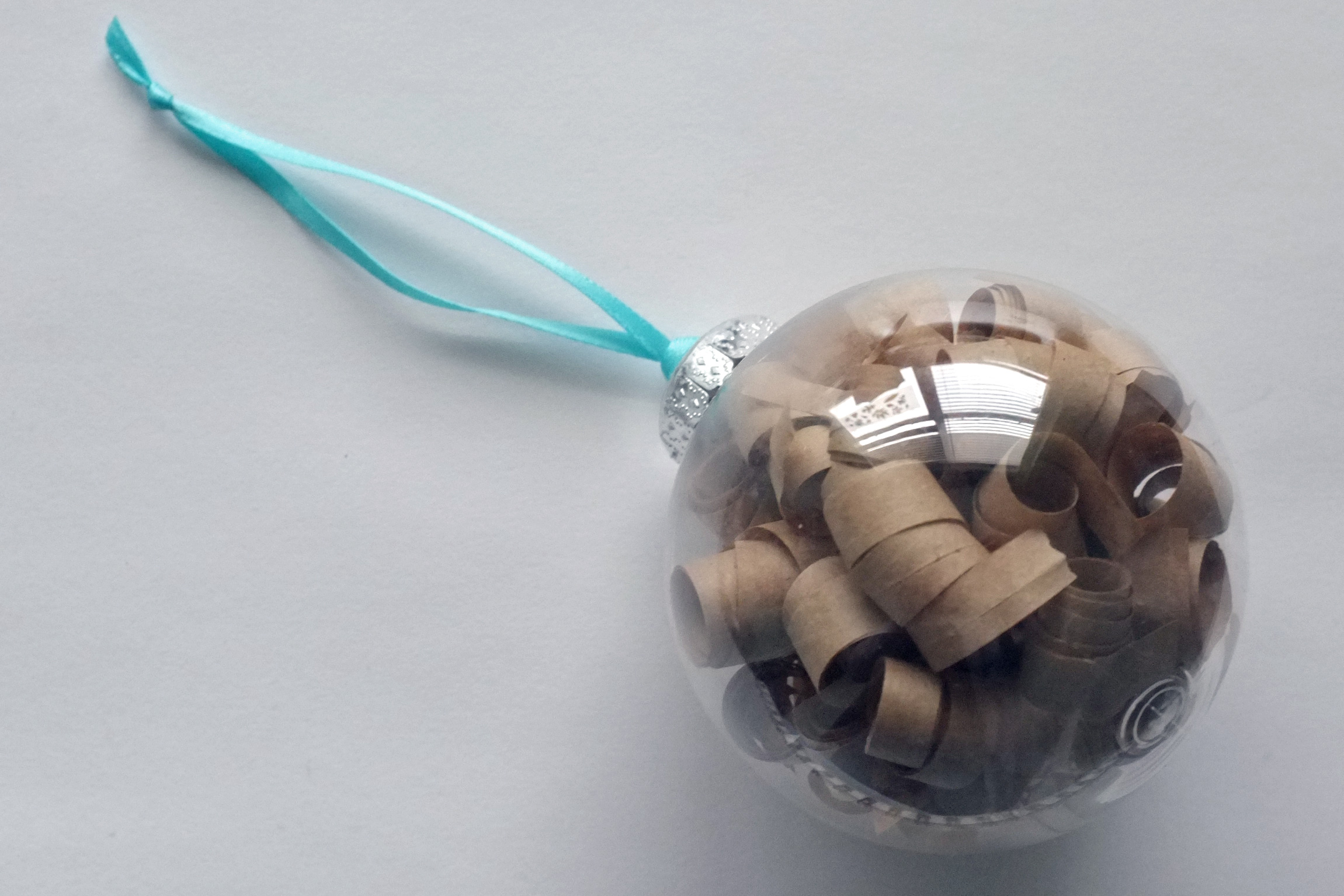 Brown Paper Curl Ornament
