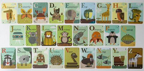 Animal Alphabet Card Art