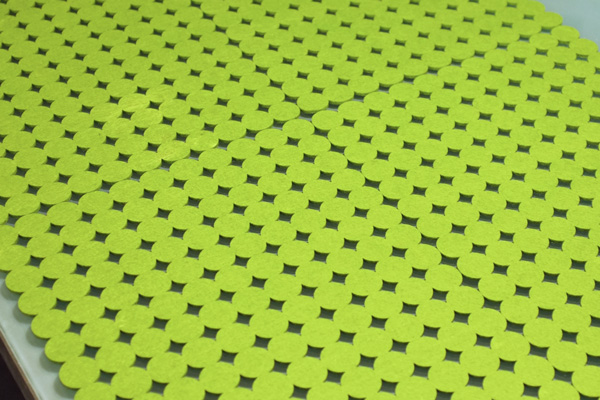 Bug Party Green Felt Placemats