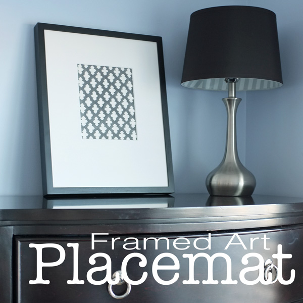 Placemat Framed Art