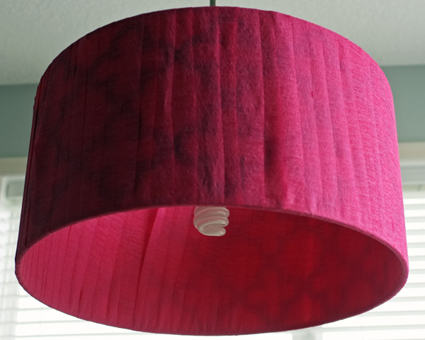 Crepe Paper Drum Shade