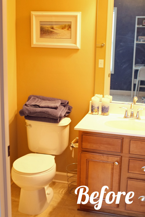 Guest bathroom paint makeover - How to decorate a guest bathroom ...
