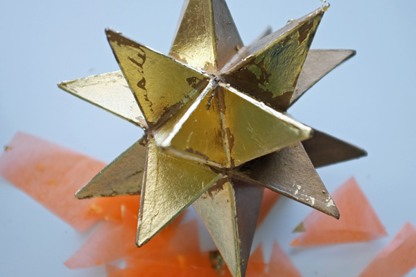 Aged Gold Leaf Star