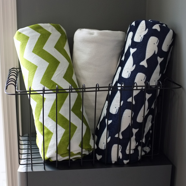 Chevron and Whale Throw Blankets