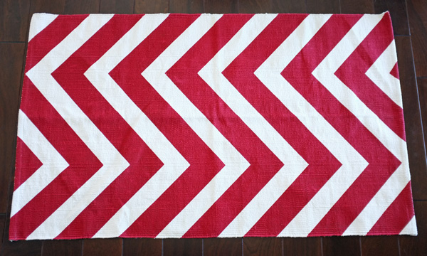 Red Chevron Rug