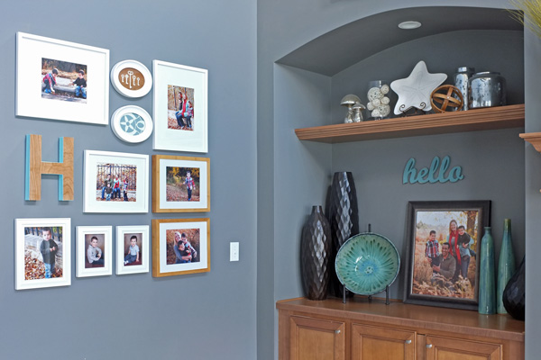 family photo gallery wall