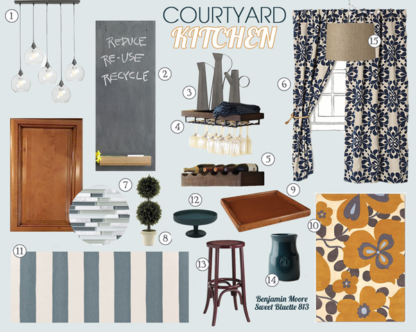 Courtyard Kitchen Mood Board