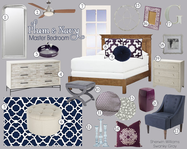 Plum&NavyBedroom