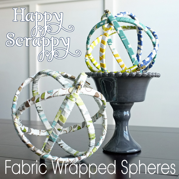 Fabric Scrap Decorative Spheres