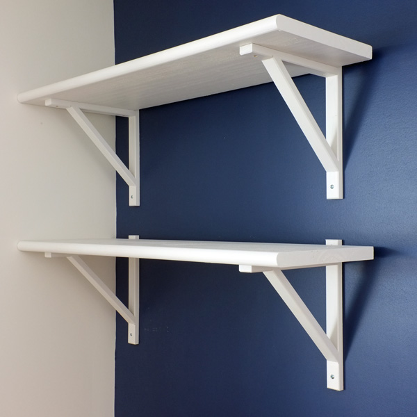 white stair tread shelves