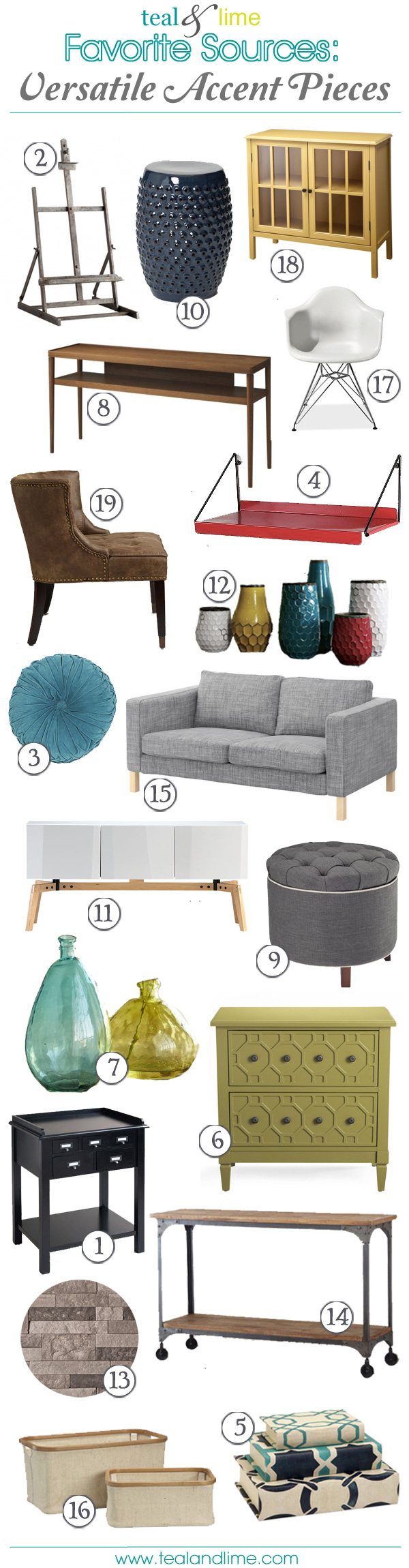 Favorite Sources: Versatile Accent Pieces