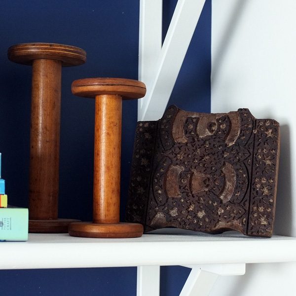 Wooden Spools and printing block