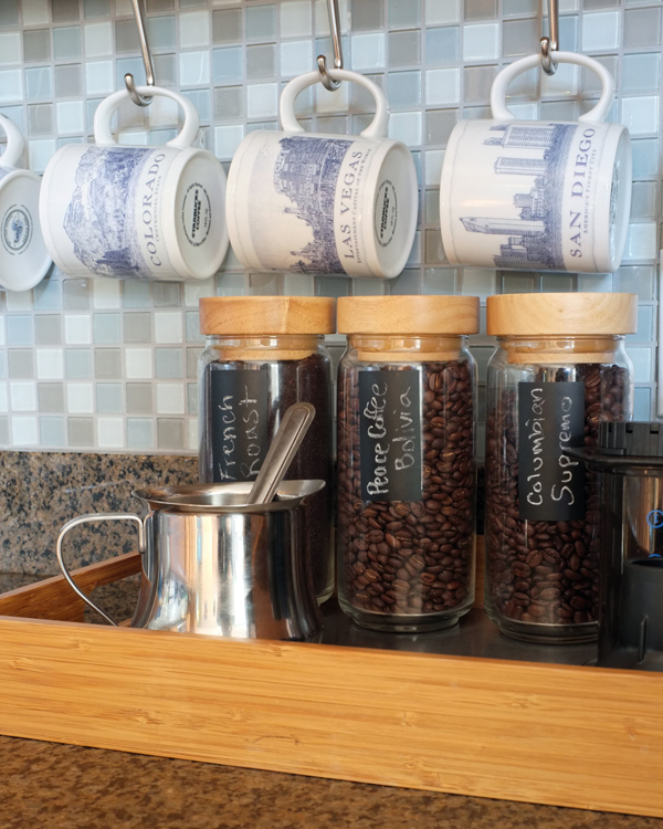 countertop coffee bar