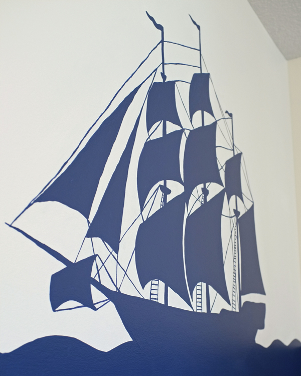 pirate ship mural