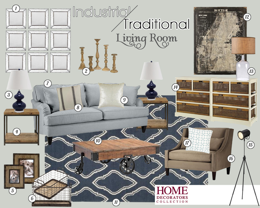 Home Decorators Collection Navy Living Room