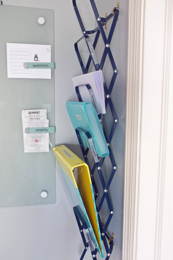 Accordion File Holder on the wall