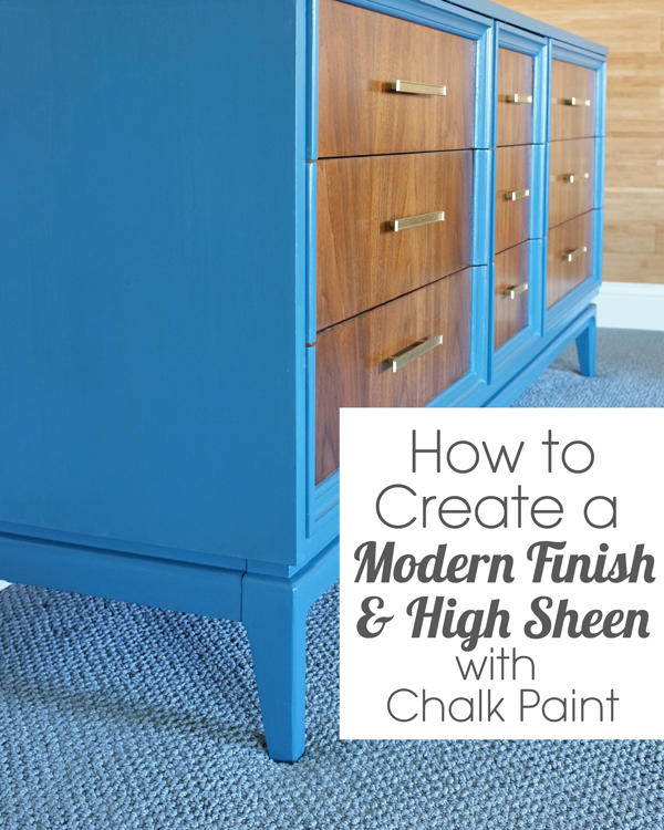 modern paint finish with chalk paint