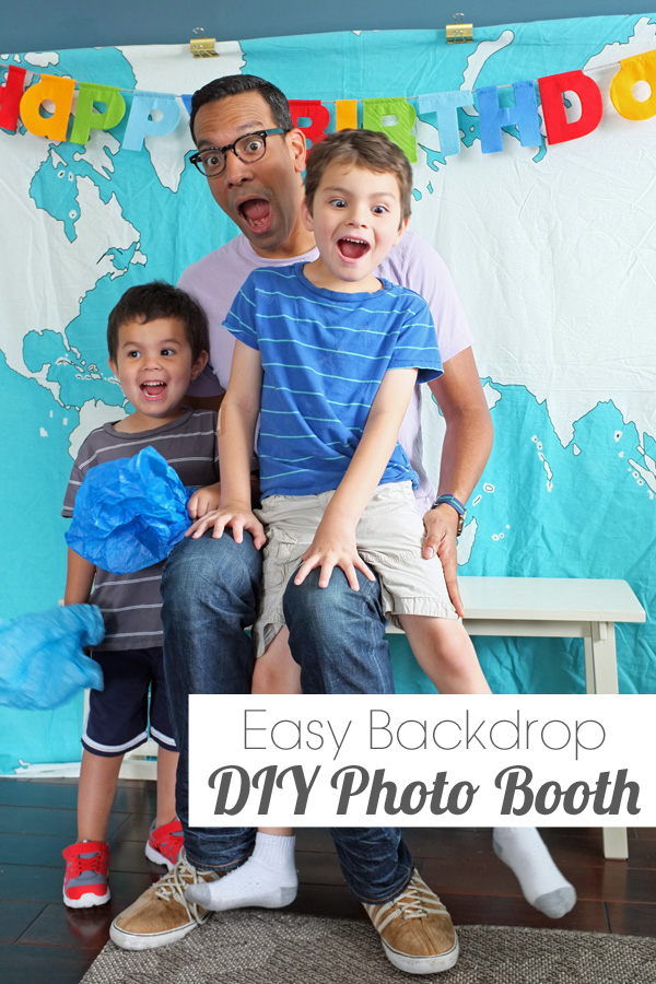 Easy Fabric Photo Booth Backdrop