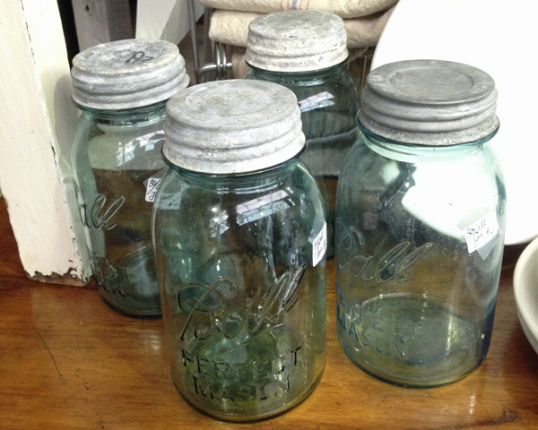 Vintage Blue Ball Jars