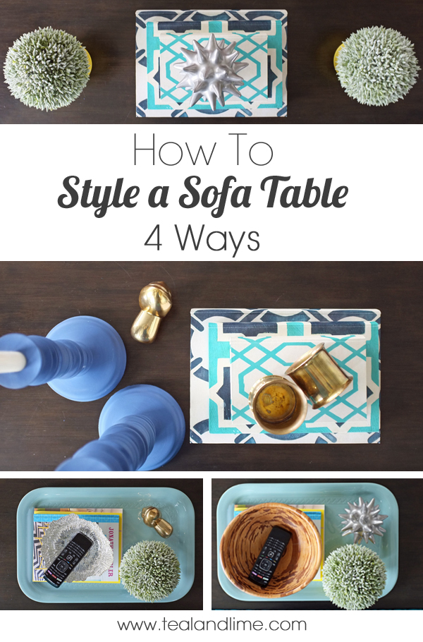 How to Style a Sofa Table