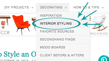 Interior Styling Blog Posts