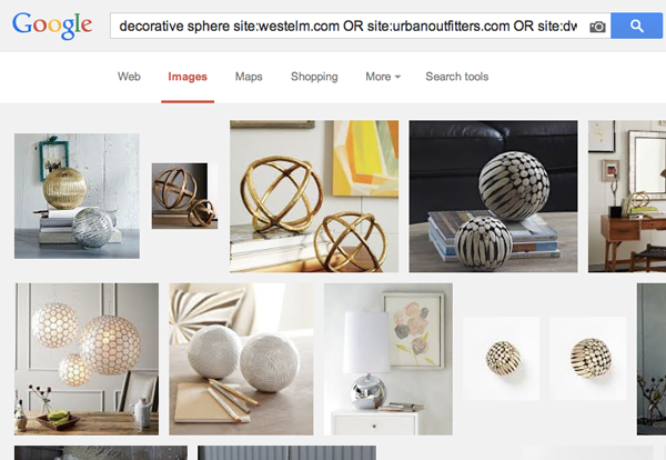Online Home Decor Shopping Search Trick