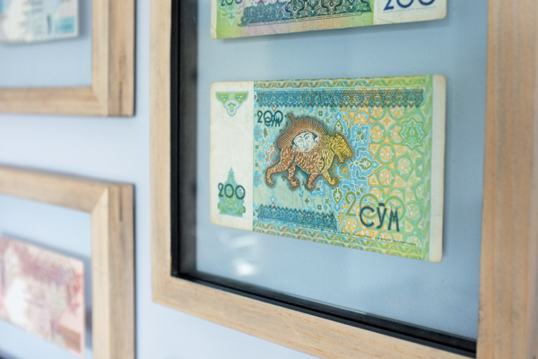 Easy Art Framed Currency | tealandlime.com