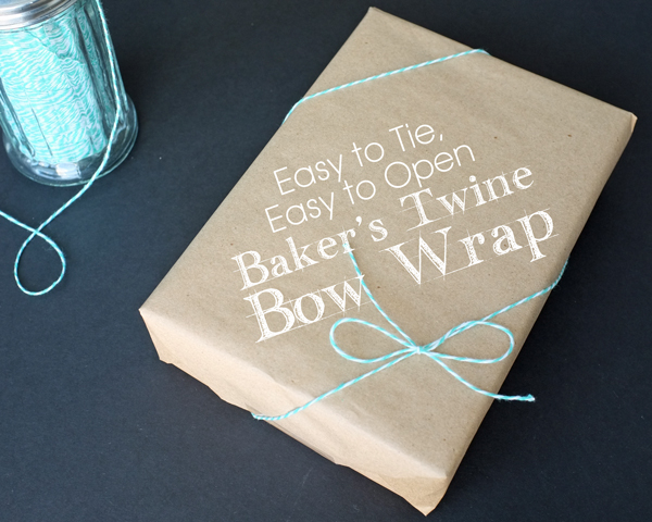 how to tie a gift with Baker's Twine | tealandlime.com