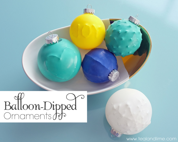 How to make balloon-dipped ornaments | tealandlime.com