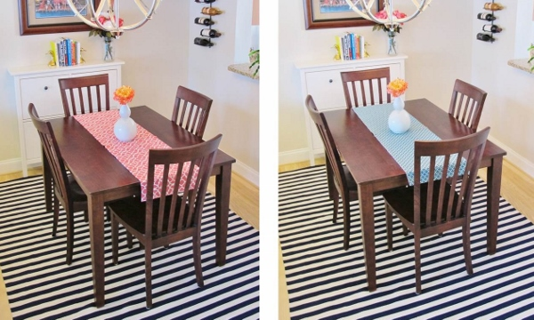 How to Make a Reversible Table Runner | BonnieProjects for tealandlime.com