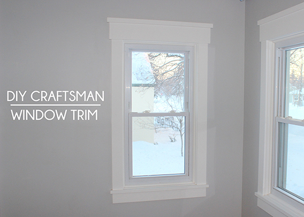 DIY Craftsman Style Window Trim | Home Coming for tealandlime.com