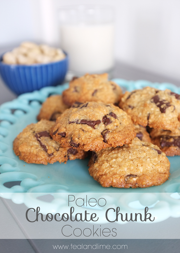 Paleo Chocolate Chunk Cookie Recipe | tealandlime.com
