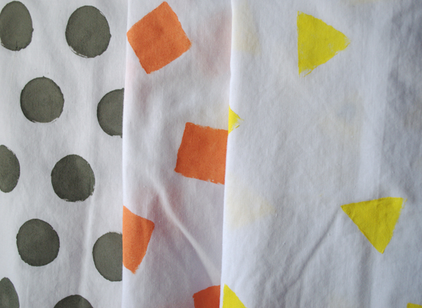 Simple Hand Stenciled Kitchen Towels